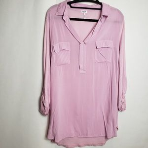 Splendid lavender 3/4 sleeve top front packets s